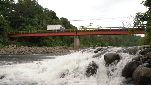 LA Truck crossing a bridge somewhere in Costa Rica