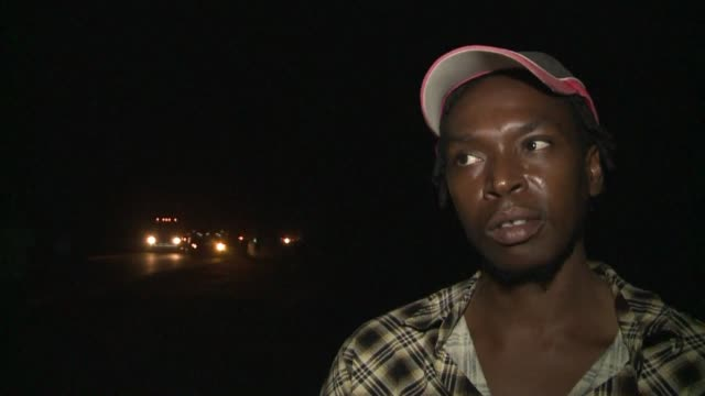 truck drivers and sex workers plying their trade near the busy port of beira in mozambique are making use of mobile testing units to see whether they... - biological process stock videos and b-roll footage
