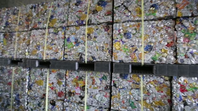 a truck drives past the tsurumi recycling center operated by yokohama resources wastes recycling public corp in yokohama kanagawa prefecture japan on... - aluminium stock videos & royalty-free footage