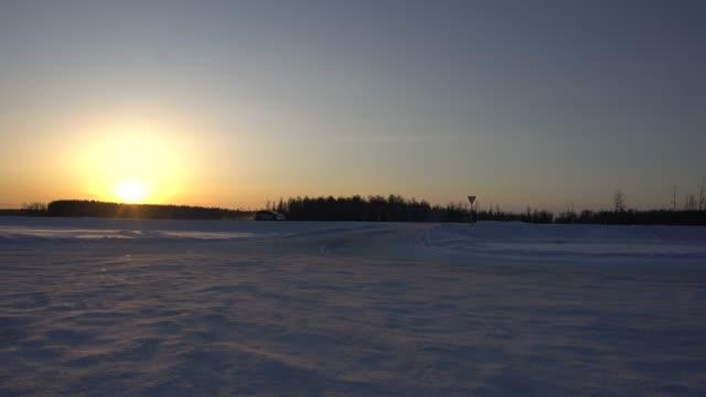 truck driving on kolyma highway at sunset, russian far east, siberia - pavel gospodinov stock videos & royalty-free footage