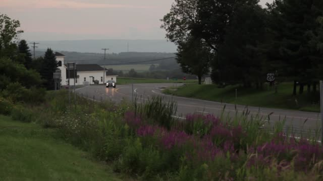 truck driving on road at dawn - syracuse stock videos & royalty-free footage