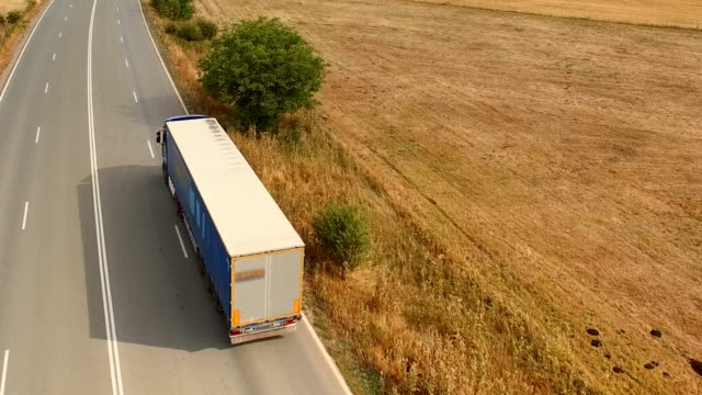 truck driving on the road - cargo container stock videos & royalty-free footage