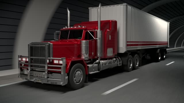 truck in a tunnel - articulated lorry stock videos & royalty-free footage