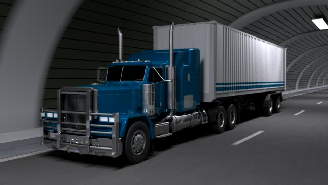 truck in a tunnel - heavy goods vehicle stock videos & royalty-free footage