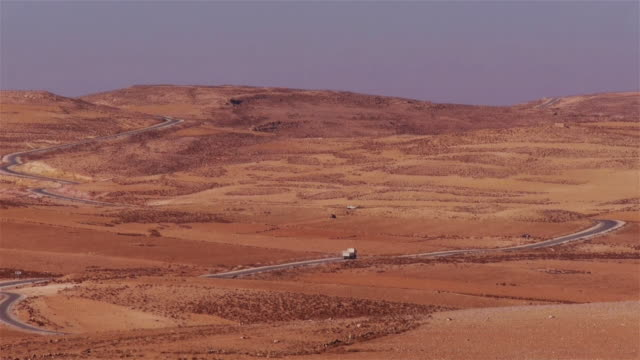 A truck on the Kings Highway in Jordan, Middle East.