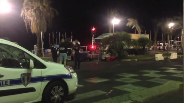 a truck ploughed into a crowd in the french resort of nice killing at least 80 and crushing everything in its path a witness says in what president... - 2016 stock-videos und b-roll-filmmaterial