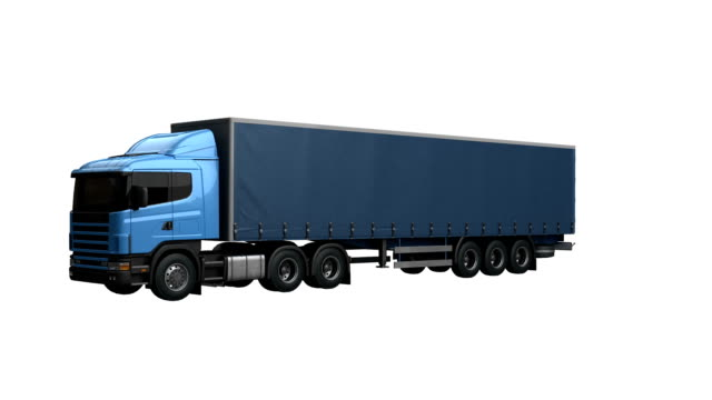 Truck spin isolated with luma matte