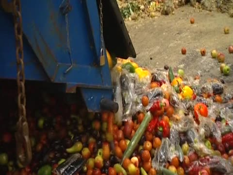 truck unloads fruits and vegetables - bbc stock videos & royalty-free footage