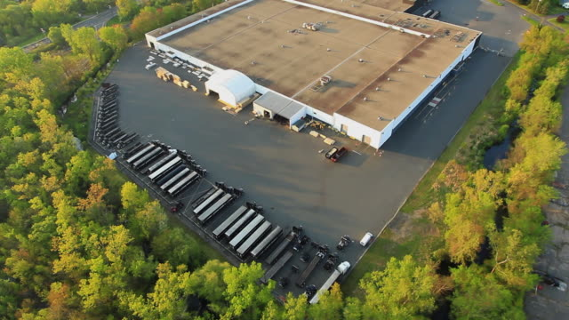 aerial truck warehouse / southington, connecticut, usa - fleet of vehicles stock videos and b-roll footage