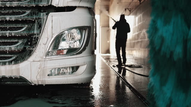 truck washing and cleaning service - washing stock videos & royalty-free footage