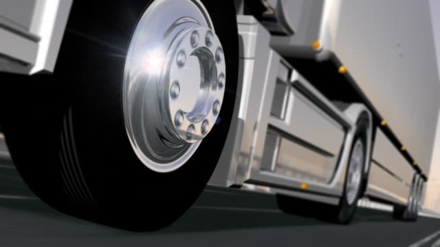 truck wheels on the road. hd - pickup bildbanksvideor och videomaterial från bakom kulisserna