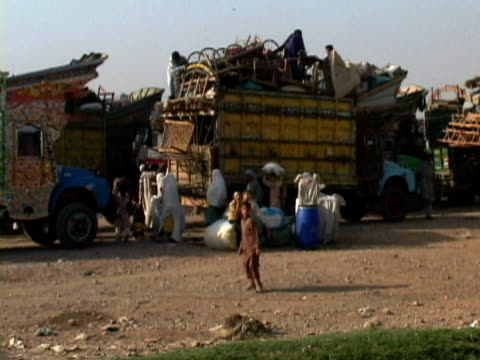 WS Truck with pertaining of refugees, Kabul city, Kabul, Afghanistan