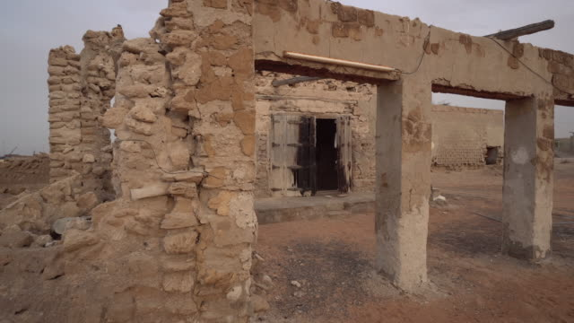 trucking shot, abandoned building in Ras al-Khaimah