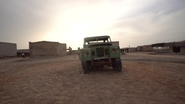 Trucking shot, old car in Ras al-Khaimah