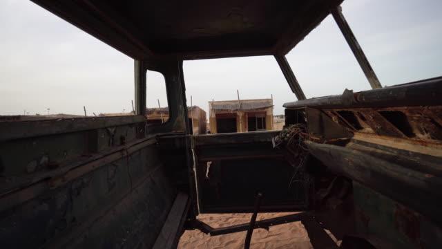 Trucking shot, rusted vehicle in Ras al-Khaimah