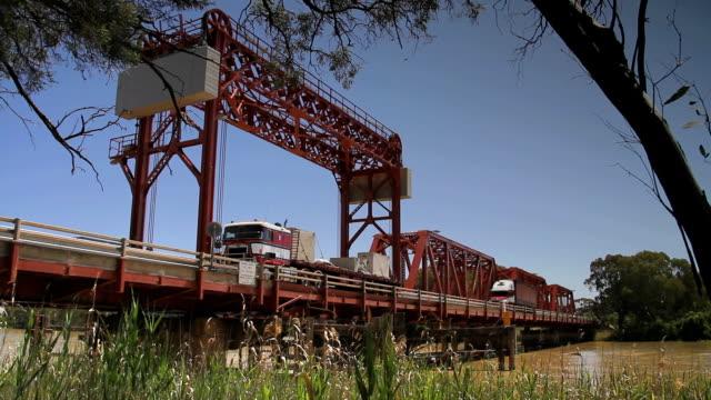 Trucks over bridge