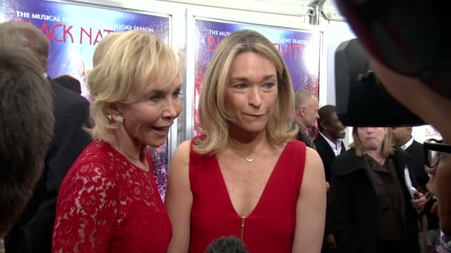 trudie styler and guest at 'black nativity' new york premiere presented by fox searchlight pictures at the the apollo theater on 11/18/13 in new... - trudie styler stock videos & royalty-free footage