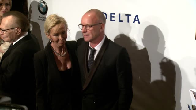 trudie styler and sting at friars foundation gala honoring robert de niro and carlos slim at the waldorf=astoria on october 07, 2014 in new york city. - trudie styler stock videos & royalty-free footage