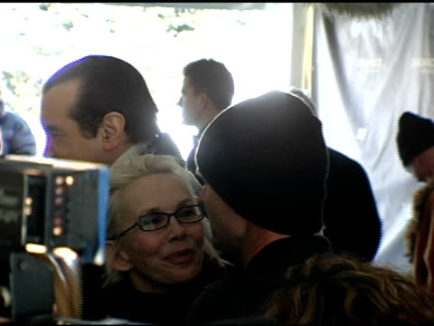 vídeos de stock e filmes b-roll de trudie styler and sting at the 2006 sundance film festival 'a guide to recognizing your saints' premiere at racquet club in park city, utah on... - trudie styler