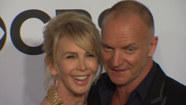 trudie styler and sting at the 2014 tony awards at radio city music hall on june 08, 2014 in new york city. - trudie styler stock videos & royalty-free footage