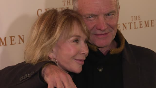 trudie styler and sting at 'the gentlemen' special screening at the curzon mayfair on december 03, 2019 in london, england. - trudie styler stock videos & royalty-free footage