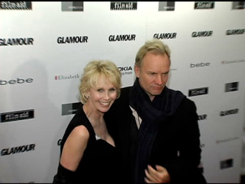 trudie styler and sting at the glamour magazine 'reel moments' short film series world premiere at us union square stadium 14 in new york, new york... - trudie styler stock-videos und b-roll-filmmaterial