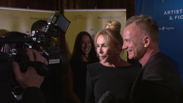 trudie styler and sting cinema at for peace new york 2012 gala honoring sting, trudie styler & the rainforest fund with 'green oscar' at the harvard... - trudie styler stock videos & royalty-free footage