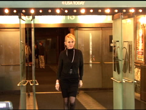trudie styler at natasha richardson's memorial at studio 54 in new york at the celebrity sightings in new york at new york ny. - trudie styler stock-videos und b-roll-filmmaterial