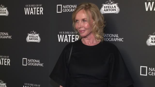 """trudie styler at """"our dream of water"""" new york premiere at metrograph on march 6, 2017 in new york city. - trudie styler stock videos & royalty-free footage"""