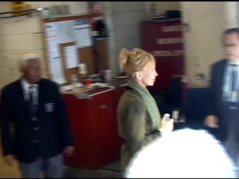 trudie styler departs 'live with regis and kelly' in new york 04/08/11 - trudie styler stock videos & royalty-free footage