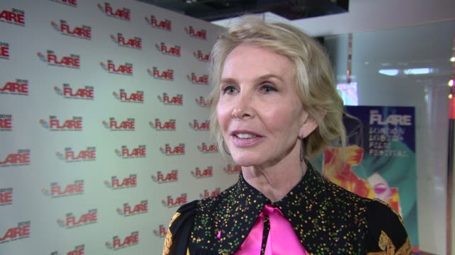trudie styler on bringing 'freak show' to the bfi for the flare film festival at 'freak show' screening at bfi southbank on march 28, 2018 in london,... - trudie styler stock videos & royalty-free footage
