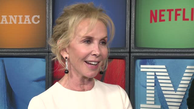 """trudie styler on her new series at a netflix original series """"maniac"""" new york premiere at center 415 on september 20, 2018 in new york city. - trudie styler stock videos & royalty-free footage"""