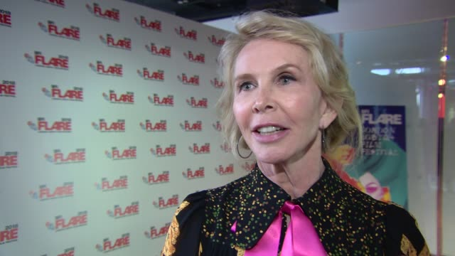 trudie styler on how her directing debut went at 'freak show' screening at bfi southbank on march 28, 2018 in london, england. - trudie styler stock videos & royalty-free footage