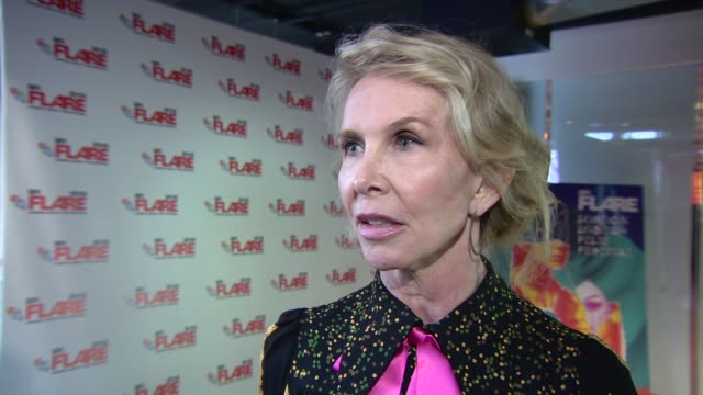 trudie styler on the costume and sound design of the film and working with her daughter eliot sumner at 'freak show' screening at bfi southbank on... - trudie styler stock videos & royalty-free footage