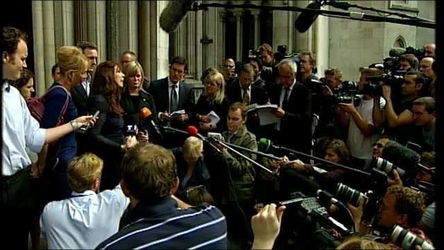 trudie styler speaking to press outside court trudie styler speaking to press sot - where is our compassion, where are our hearts right now sharp... - trudie styler stock-videos und b-roll-filmmaterial