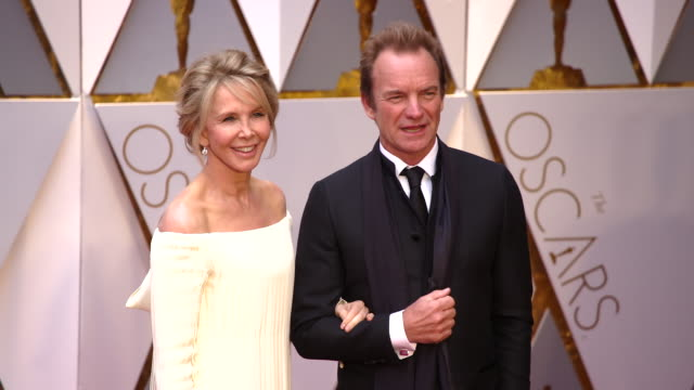 Trudie Styler Sting and J Ralph and guest at 89th Annual Academy Awards Arrivals at Hollywood Highland Center on February 26 2017 in Hollywood...