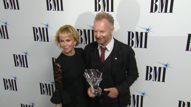 trudie styler, sting at 67th annual bmi pop awards in los angeles, ca 5/14/19 - trudie styler stock videos & royalty-free footage