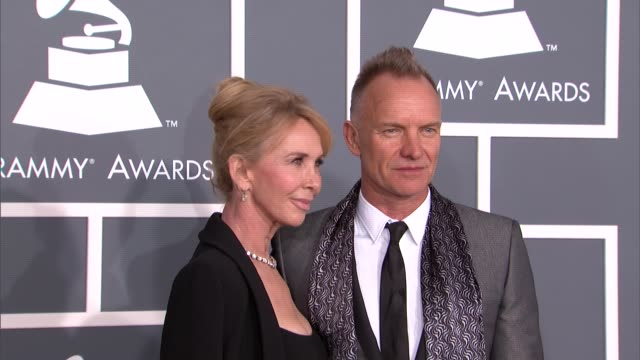 trudie styler, sting at the 55th annual grammy awards - arrivals trudie styler, sting at the 55th annual grammy awa at staples center on february 10,... - trudie styler stock videos & royalty-free footage