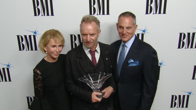 trudie styler, sting, mike o'neill at 67th annual bmi pop awards in los angeles, ca 5/14/19 - trudie styler stock videos & royalty-free footage