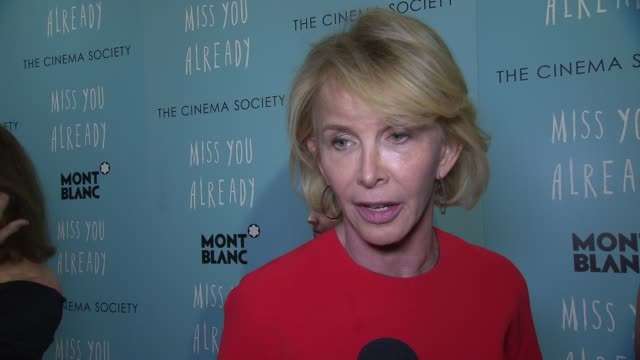 """vídeos de stock e filmes b-roll de trudie styler talks about the need for women in film at """"miss you already"""" new york premiere at museum of modern art on october 25, 2015 in new york... - trudie styler"""