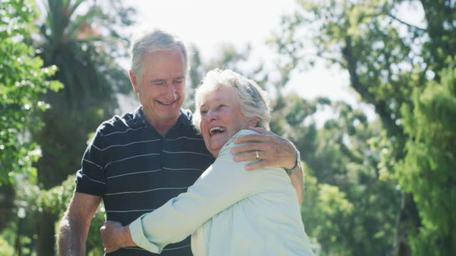 true love is a lifelong gift - senior couple stock videos & royalty-free footage