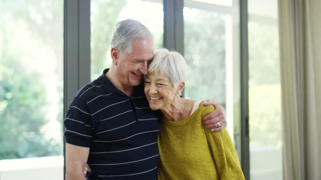 true love makes for a happy life - senior couple stock videos & royalty-free footage