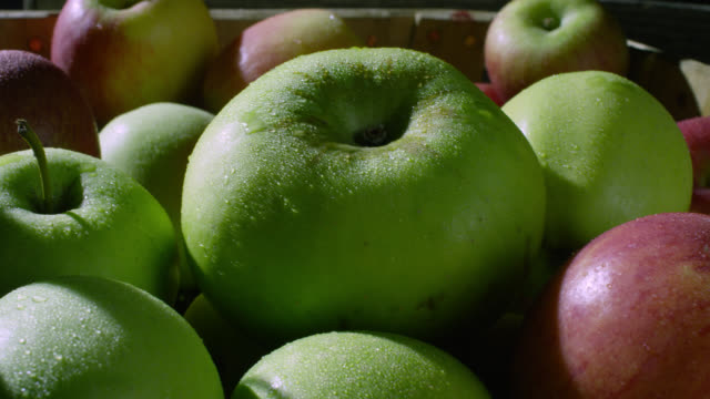 trug of apples, uk - apple fruit stock videos & royalty-free footage