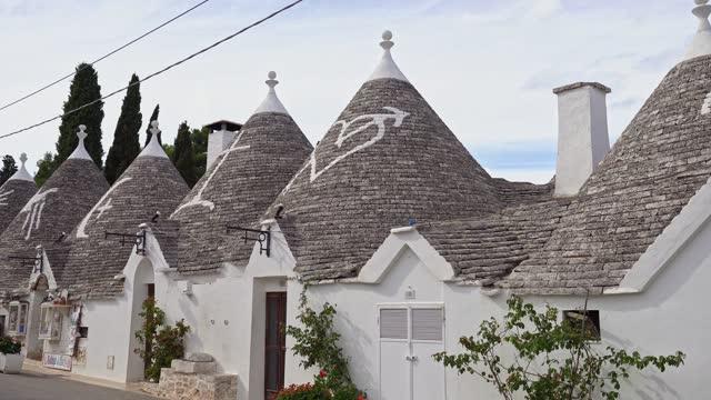 trulli in alberobello - apulia - steeple stock videos & royalty-free footage