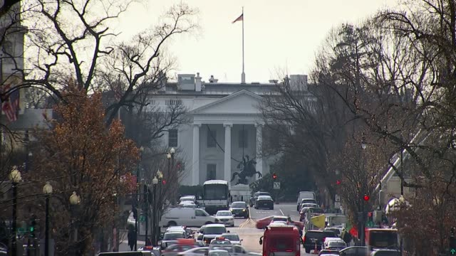trump authorises publication of memo attacking fbi's russia investigation; usa: washington dc: ext view towards the white house - publication stock videos & royalty-free footage