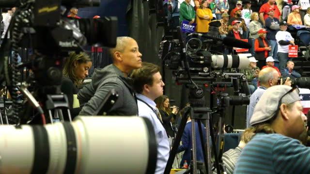 trump campaigns for marsha blackburn. - political rally stock videos & royalty-free footage