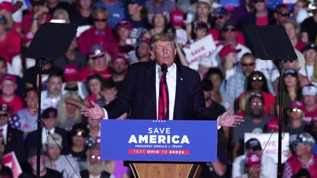 trump continues to claim that there was major voter fraud in the 2020 presidential election at lorain county fairgrounds on june 26, 2021 in... - fraud stock videos & royalty-free footage