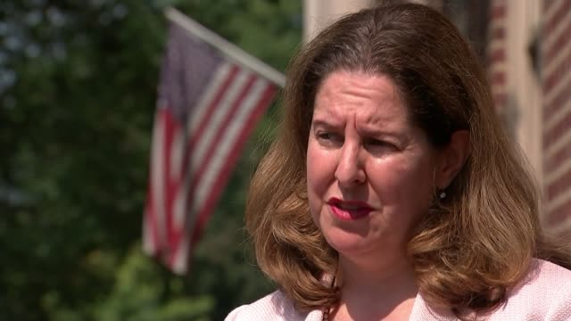 trump critcises removal of confederate statues alexandria allison silberberg interview sot reporter people along street statue vox pops sot - confederate states army stock videos and b-roll footage