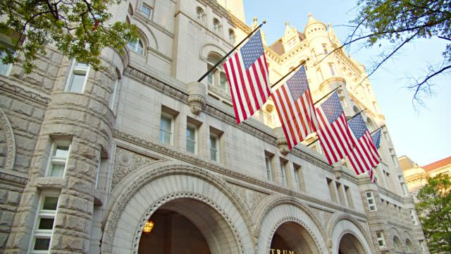 trump hotel at washington dc - monument stock videos & royalty-free footage