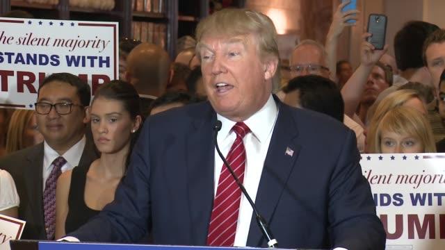 trump presser gop pledge - republican national convention stock videos & royalty-free footage